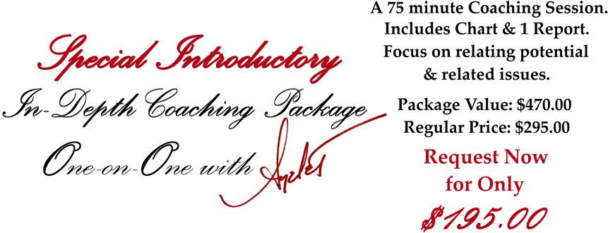 SPECIAL INTRODUCTORY COACHING PACKAGE
